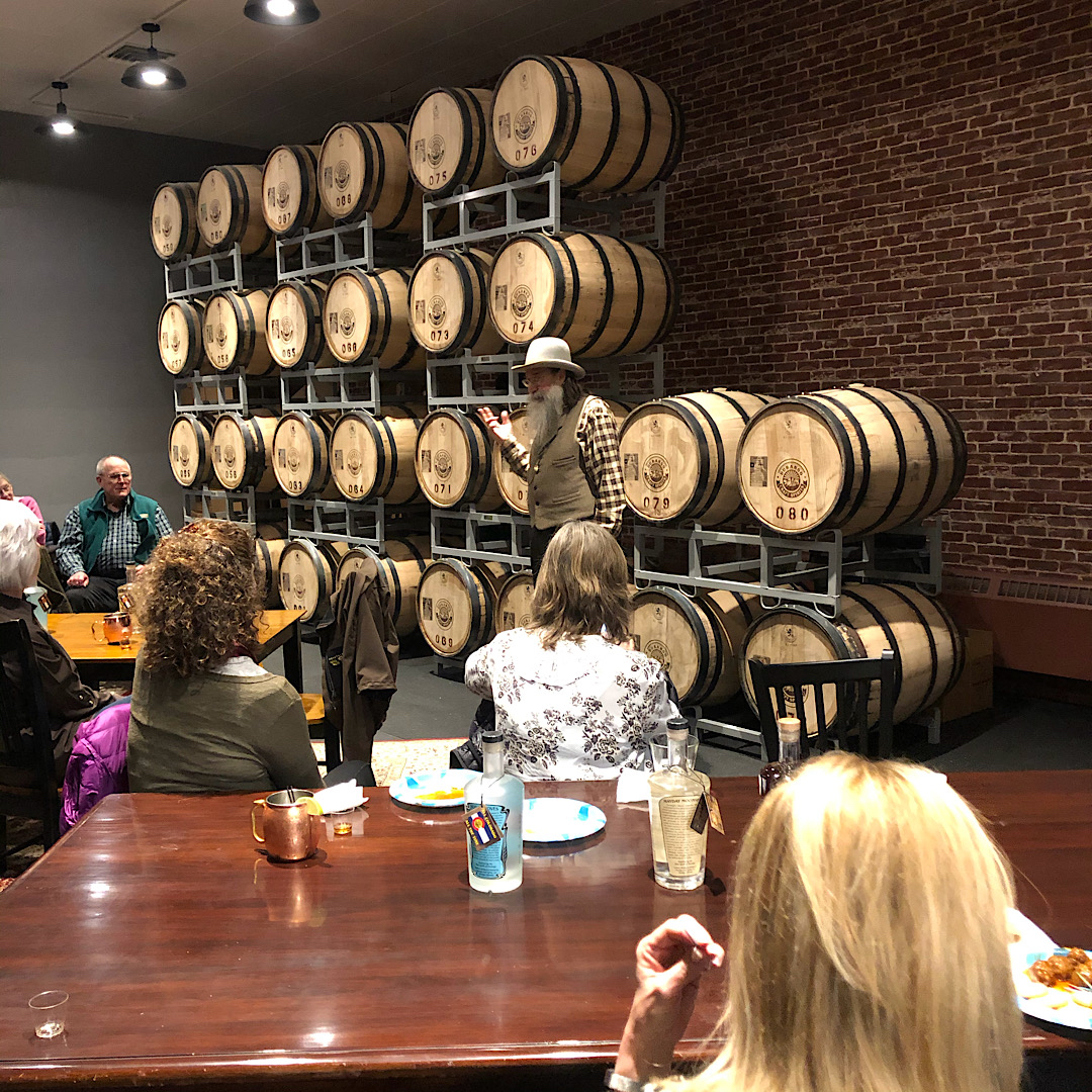 Charles DiFerdinando speaking at Durango Craft Spirits