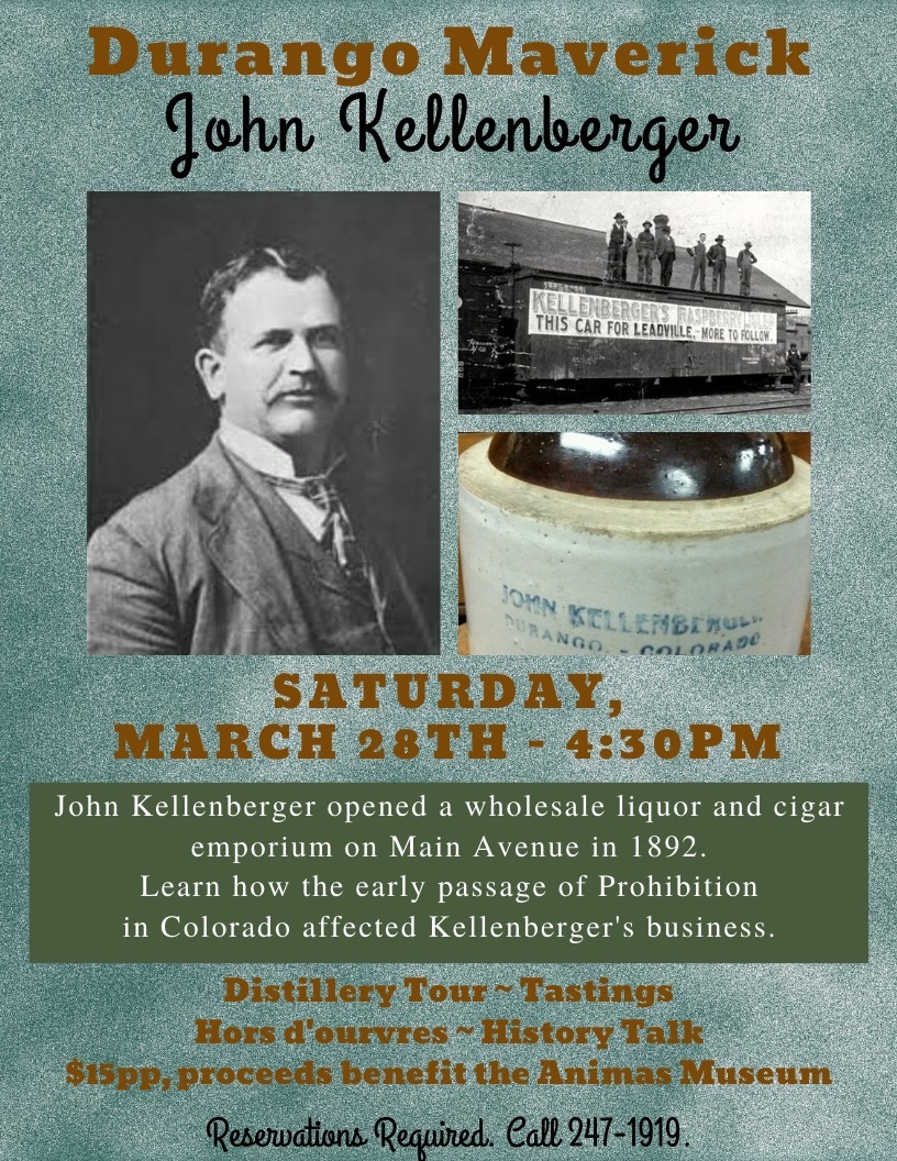 Flyer for Distillery Tour & History Talk Series